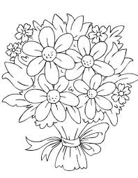 bouquet of flowers coloring pages flower coloring pages of
