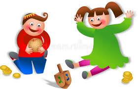children celebrating hanukkah stock illustration image 44312439