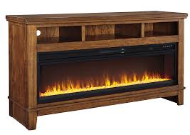 Sparks Fireplace - sparks furniture ralene medium brown extra large tv stand w fireplace