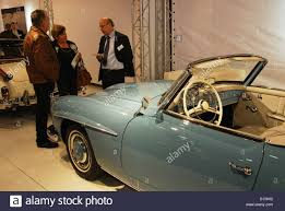 mercedes benz 190 sl for sale at classic car show maastricht stock