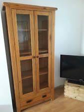 Oak Glazed Display Cabinet Oak Display Cabinet Ebay