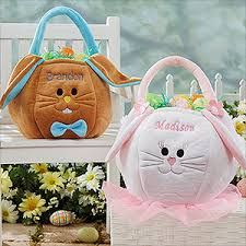 easter bunny baskets personalized easter baskets plush easter bunny