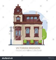 old mansion building exterior classic victorian stock vector