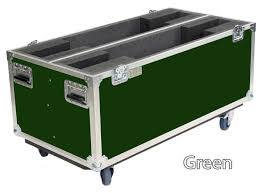 kent custom road case dual tv case