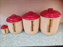 Red Kitchen Canister 100 Kitchen Flour Canisters 100 White Ceramic Kitchen