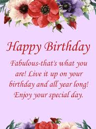 you are fabulous happy birthday card birthday u0026 greeting cards