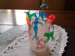 6 shirley temple cocktail sonic drink cake toppers mermaid