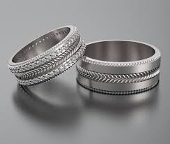 unique matching wedding bands wedding band wedding ring his and hers 14k diamond wedding band