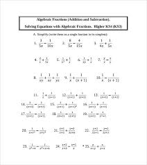 free printable math worksheets variables expressions algebraic subtraction worksheets worksheet addition and subtraction