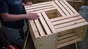 Diy Wood Crate Coffee Table by How To Make A Crate Coffee Table Woodlogger Com Youtube