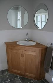 corner bathroom vanity table corner oak wooden vanity furniture with modern white round sink