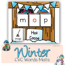 winter cvc words worksheet
