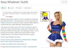 Sexy Women Meme - tv tropes page for sexy whatever outfit sexy halloween costume