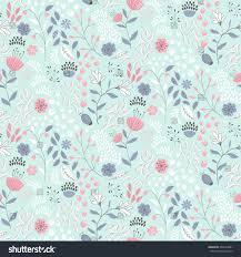 delicate ditsy floral print vector seamless stock vector 662524801