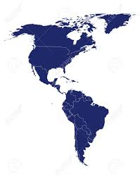 North South America Map Outline by North America Stock Photos Royalty Free North America Images And