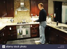 Td Furniture Store by Ikea Store Interior Man Looking At Kitchen Stock Photo Royalty
