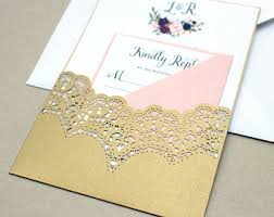 wedding invitations and gold gold wedding invite etsy