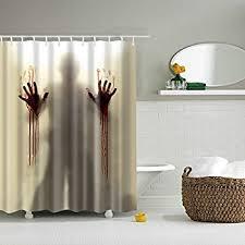 amazon com bloody shower curtain 70x72