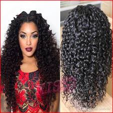 black hair buns for sale female natural looking deep curly glueless wig with baby hair bun