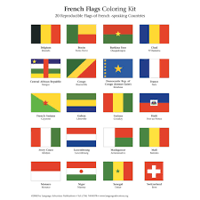 Image Of French Flag French Flags U2013 Coloring Kit U2013 Language Adventure