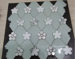 italy snow white marble waterjet cut kitchen tiles backsplash