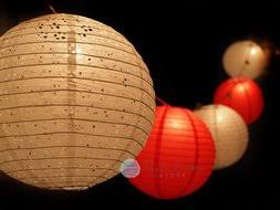 White Paper Lantern String Lights by Holiday Theme Party Paper Lantern String Lights