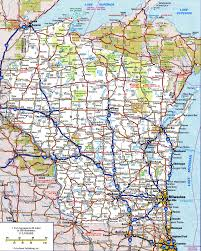 Wisconsin Topographic Map by Wisconsin Road Map