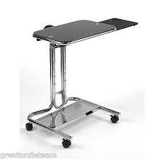 laptop standing desk workstation height adjustable medical rolling