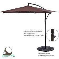 Offset Patio Umbrella With Base Square Patio Umbrella Bikepool Co