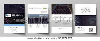 magazine layout size business templates brochure magazine flyer booklet stock vector