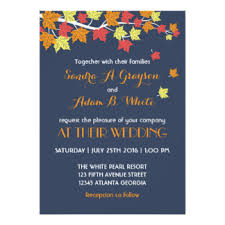 cheap fall wedding invitations fall wedding invitations announcements zazzle