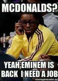 Eminem Rap God Meme - lil wayne after hearing eminem s new song rap god 9gag