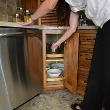 Kitchen Corner Cabinet Solutions Corner Cabinet Solutions Storage Solutions Custom Wood