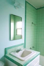 Vintage Bathroom Design Colors Laura U0027s Green B U0026w Tile Bathroom Remodel In Progress Mint Green