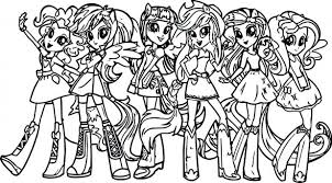 pony girls coloring colouring pictures applejack pages