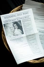 newspaper wedding program diy mini newspaper style wedding program 2351067 weddbook