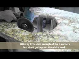 how to cut granite for sink how to cut a sink hole in a granite countertop youtube for the