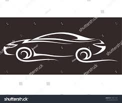 cartoon sports car black and white royalty free silhouette of racing car for sports u2026 168211631 stock