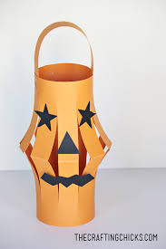 halloween paper lanterns kid craft the crafting