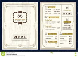 free dinner menu templates how to make certificates in word