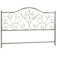 iron metal scroll black headboard pier 1 imports