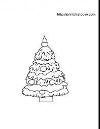 christmas tree outline clip art kids coloring