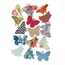 vintage style butterfly vinyl wall stickers by oakdene designs vintage style butterfly vinyl wall stickers