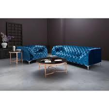 Blue Velvet Accent Chair Zuo Providence Neon Blue Velvet Arm Chair 900279 The Home Depot