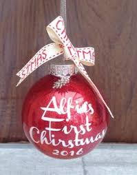 Baby First Christmas Bauble Personalised by Personalised Babys 1st Christmas Xmas Bauble Tree Decoration Gift