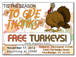 annual turkey giveaway archives holiness tabernacle