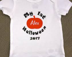 my first halloween onesie personalized name onesie fall