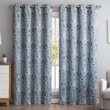 Black Out Curtain Panels Hlc Me Paisley Damask Blackout Curtain Panels U0026 Reviews Wayfair
