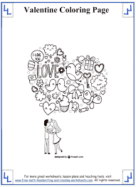 valentines day coloring pages valentine math worksheets 4th gr