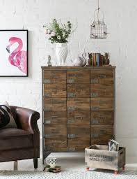 industrial apothecary chest rose u0026 grey